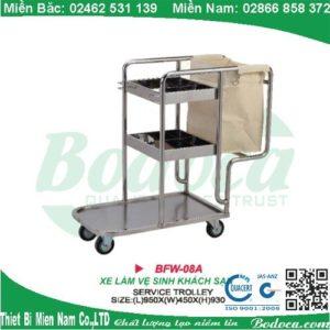 Xe dọn vệ sinh inox 304 FW-08