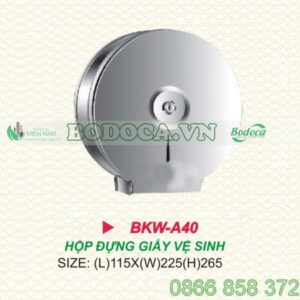 Hộp giấy vệ sinh inox tròn BKW-A40