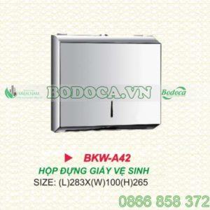 Hộp đựng giấy chữ nhật inox BKW-A42