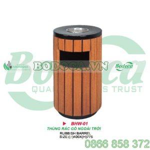Thùng rác gỗ sang trọng HW-01