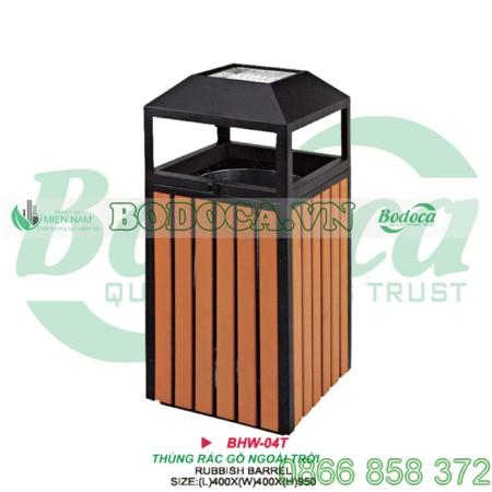 Thùng rác gỗ sang trọng HW-04