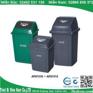 Thùng rác nhựa 100L nắp lật AF07313 Bodoca