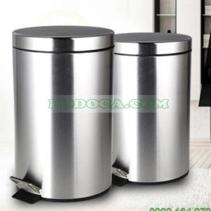 Thùng rác chân đạp inox dùng nhà bếp 20L