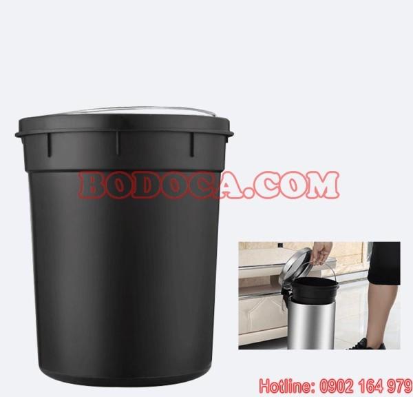 Giá thùng rác inox đạp chân 12l
