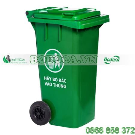Thùng rác nhựa 120l có bánh xe