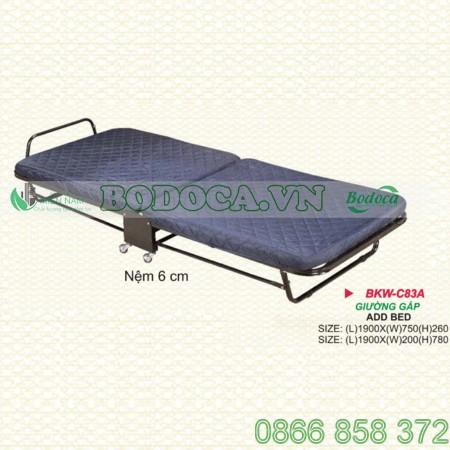 Giường gấp văn phòng nệm 6cm KW-C83A
