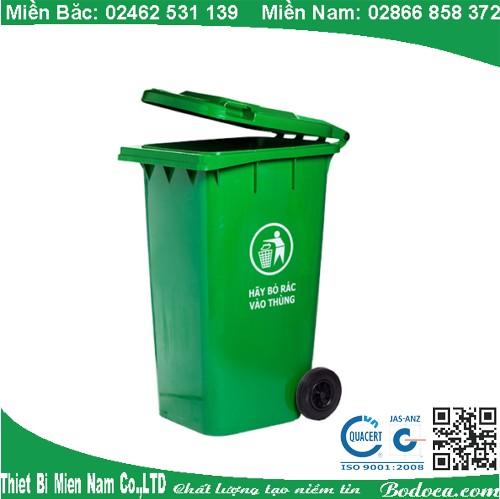 Thùng đựng rác nhựa 240L có bánh xe