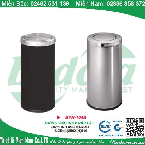 Thùng rác inox nắp lật YH-104B