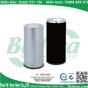 Thùng rác inox YH-125 năp lật