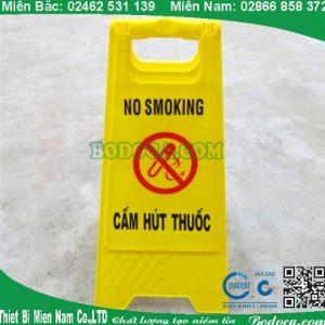 Biển báo chữ A cấm hút thuốc giá rẻ