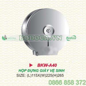 Hộp giấy inox treo tường tròn KW-A40