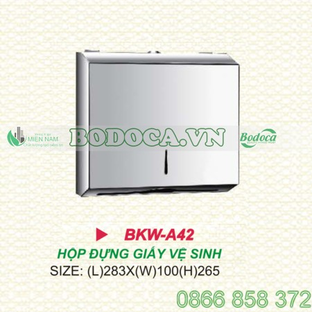 Hộp giấy lau tay inox treo tường KW-A42