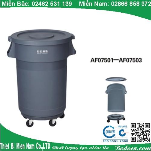 Thùng rác nhựa tròn AF07501 Bodoca