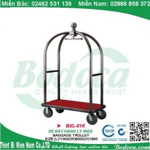 Xe đẩy hành lý inox trắng XL-01K