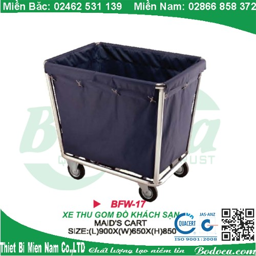 Xe thu dọn đồ inox 304 FW-17