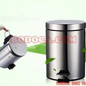 Thùng rác inox 30L chân đạp dùng quán ăn