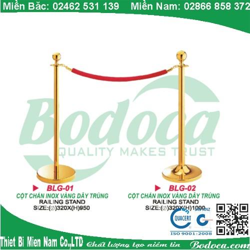 Trụ inox mạ vàng LG-01V giá rẻ