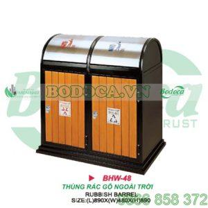 TThùng rác gỗ 2 ngăn HW-48