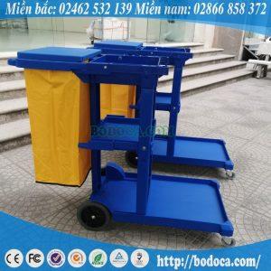 Xe Đẩy 3 tầng Dọn Vệ Sinh AF08160 Bodoca
