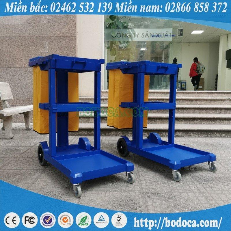 Xe đẩy làm vệ sinh công nghiệp chữ L AF08160