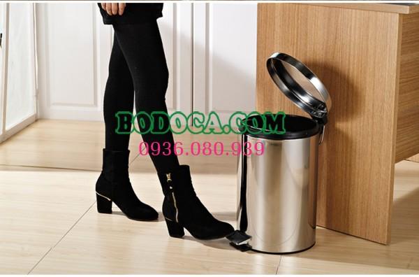 Mua thùng rác inox đạp chân 30L